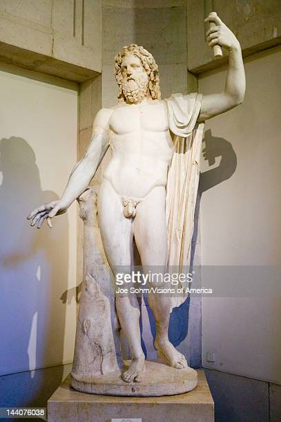 Nude male statue in the Museum de Prado Prado Museum Madrid Spain