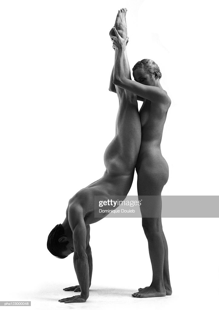 Man Holding Naked Woman