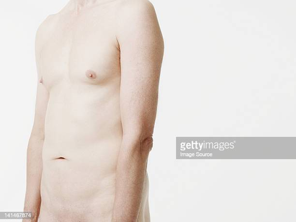 Nude man, mid section
