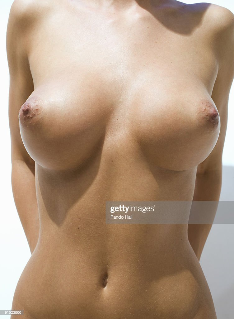 Nude woman, mid section, close-up : Stock Photo