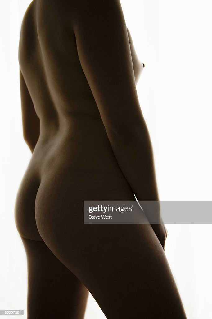 Nude woman, side view : Stock Photo