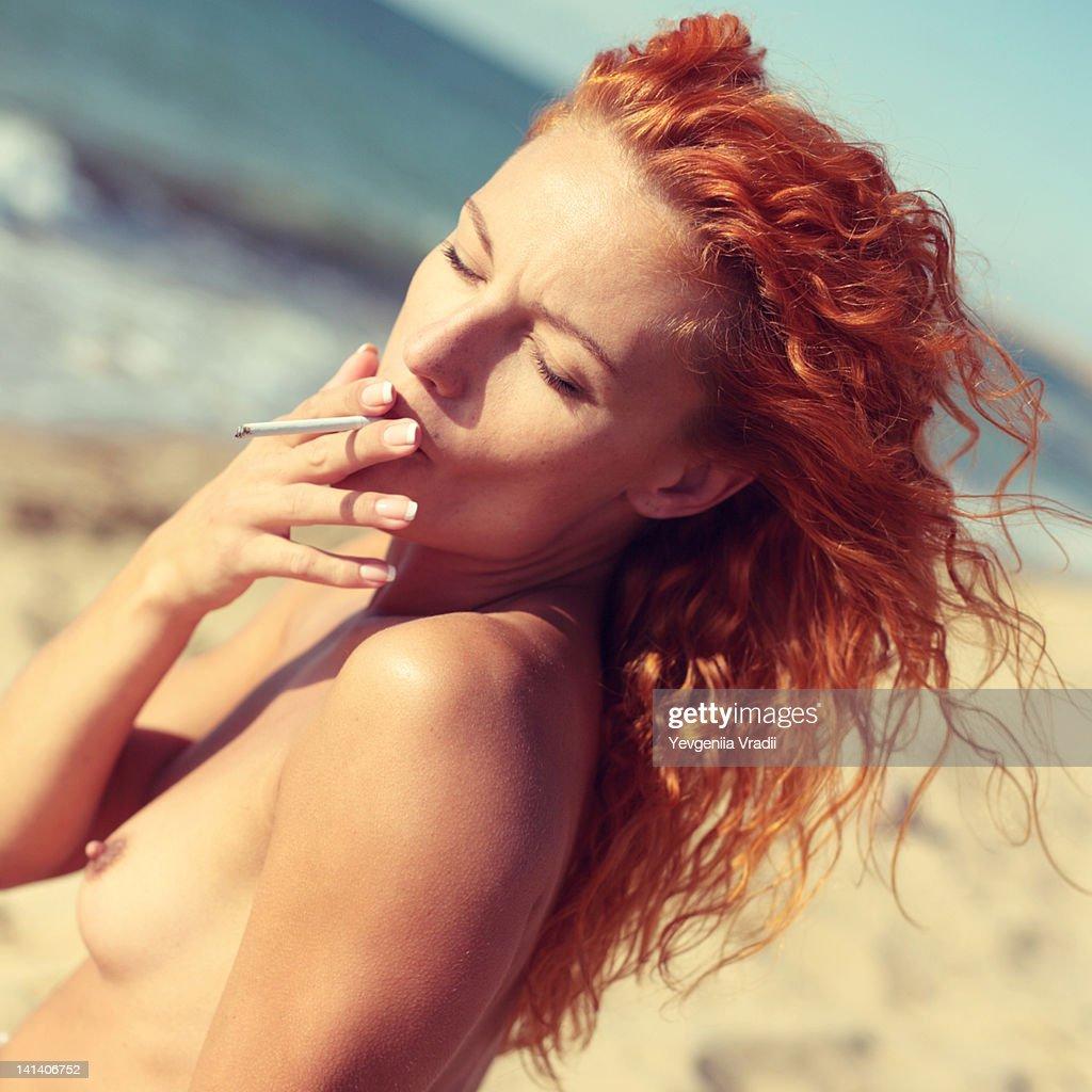 naked girls smoking cigarettes