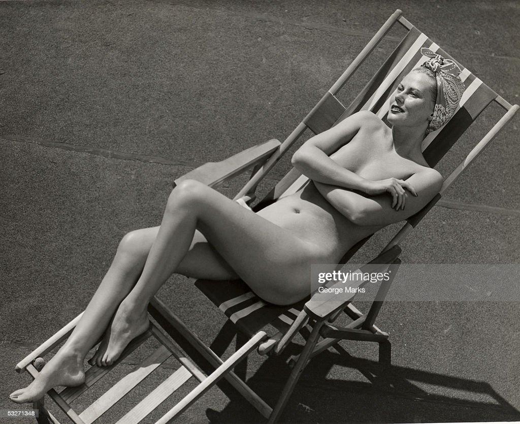 Nude beach chair
