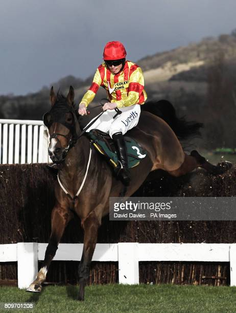 Nudge And Nurdle ridden by William TwistonDavies in the CF Roberts Electrical Mechanical Services Conditional Jockeys Handicap Chase at Cheltenham...