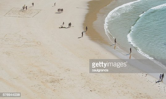 Nudist beach of Torimbia aerial view, council of Llanes, Asturias, Spain