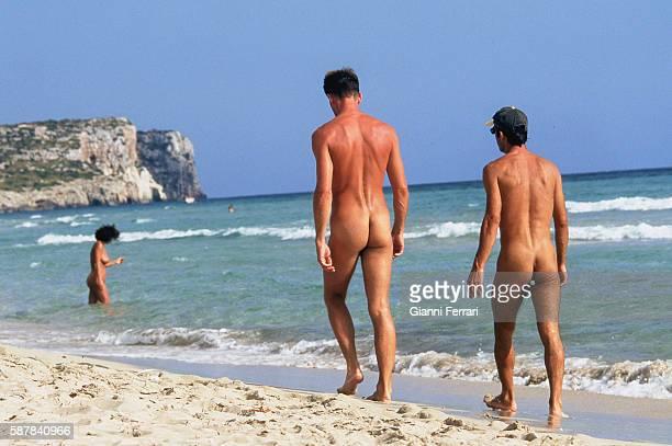 Nudists on the beaches of Menorca Balearic Islands Spain