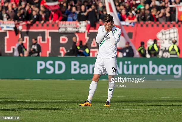 Nuernberg Deutschland 2 Bundesliga 10 Spieltag 1 FC Nuernberg Hannover 96 enttaeuscht enttaeuschung Kenan Karaman