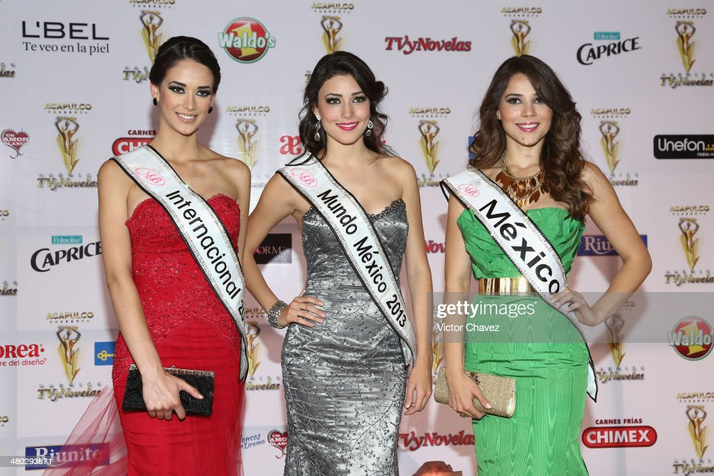 Nuestra Belleza 2013 contestants attend the Premios Tv y Novelas 2014 at Televisa Santa Fe on March 23, 2014 in Mexico City, Mexico.