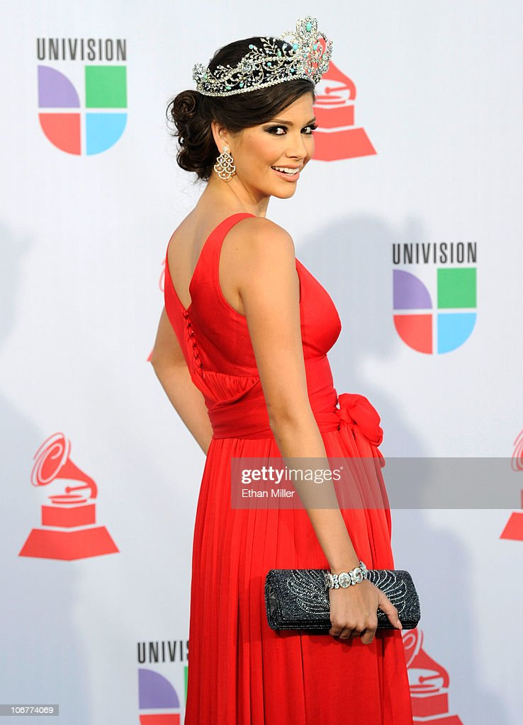 'Nuestra Belleza Latina' Season 4 winner <a gi-track='captionPersonalityLinkClicked' href=/galleries/search?phrase=Ana+Patricia+Gonzalez&family=editorial&specificpeople=7013097 ng-click='$event.stopPropagation()'>Ana Patricia Gonzalez</a> arrives at the 11th annual Latin GRAMMY Awards at the Mandalay Bay Resort & Casino on November 11, 2010 in Las Vegas, Nevada.