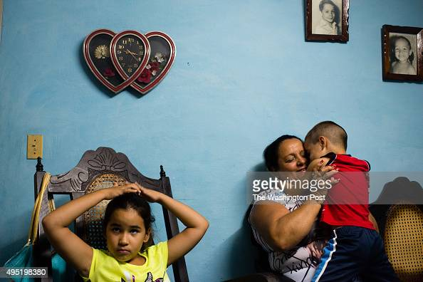Nueva Gerona is the capital of Isla de la Juventud Marisol Rondon right visits with two of her grandchildren Naomi Martel is on the right and Nasir...