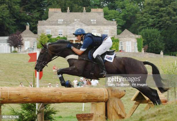 Nullarbor and Clayton Fredericks pass the house at Gatcombe Park during the cross country and go on to win the British Open Advanced Championship in...