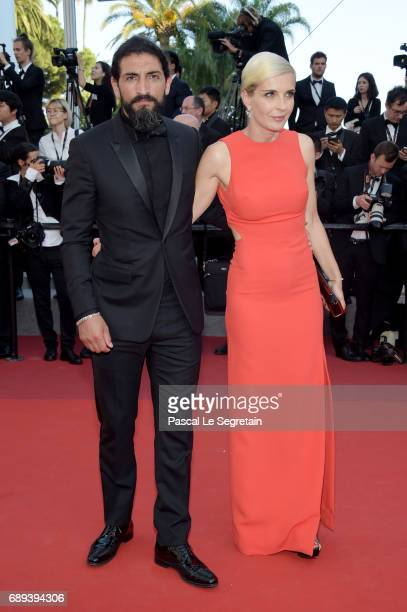 Numan Acar and Melita Toscan Du Plantier attend the Closing Ceremony of the 70th annual Cannes Film Festival at Palais des Festivals on May 28 2017...