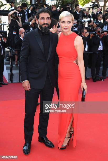 Numan Acar and Melita Toscan Du Plantier attend the Closing Ceremony during the 70th annual Cannes Film Festival at Palais des Festivals on May 28...