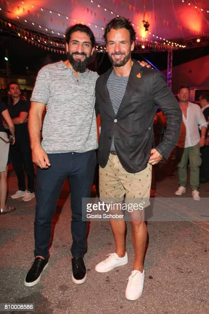 Numan Acar and Stephan Luca during the 50th anniversary celebration of Marc O'Polo at its headquarters on July 6 2017 in Stephanskirchen near...