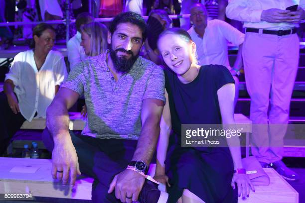 Numan Acar and Susanne Wuest attend the fashion show during the 50th anniversary celebration of Marc O'Polo at its headquarters on July 6 2017 in...