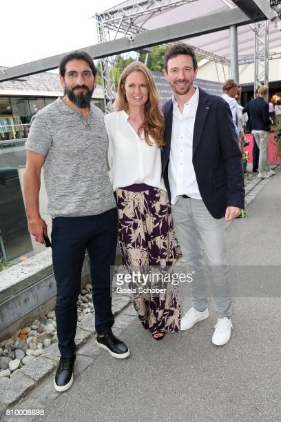 Numan Acar Oliver Berben and his wife Katrin Berben during the 50th anniversary celebration of Marc O'Polo at its headquarters on July 6 2017 in...