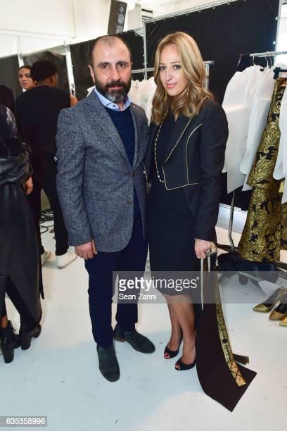 Numan Ataker and Freida Rothman at the John Paul Ataker Show featuring Freida Rothman Jewelry during New York Fashion Week at Pier 59 Studios on...