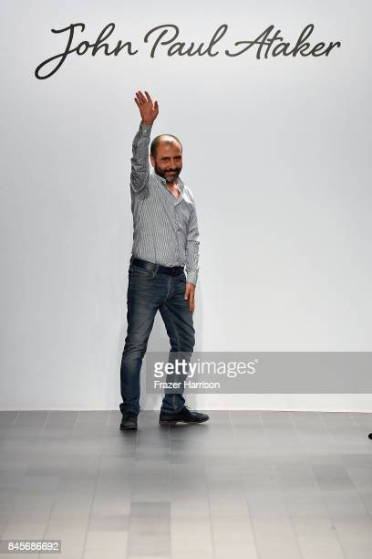 Numan Ataker walks the runway for John Paul Ataker fashion show during New York Fashion Week The Shows at Gallery 1 Skylight Clarkson Sq on September...