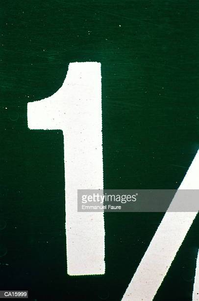 Number '1', close-up