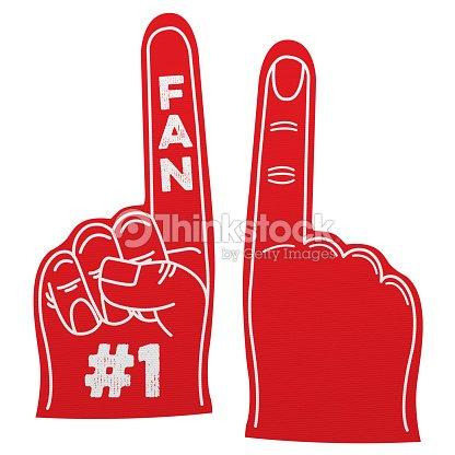 Plain Foam Finger Number 1 Fan Fo...