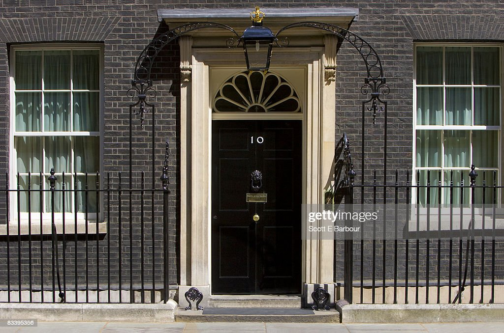 number 10 downing street stockfoto getty images. Black Bedroom Furniture Sets. Home Design Ideas