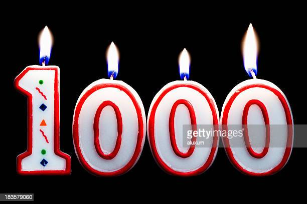 number 1000 birthday candle