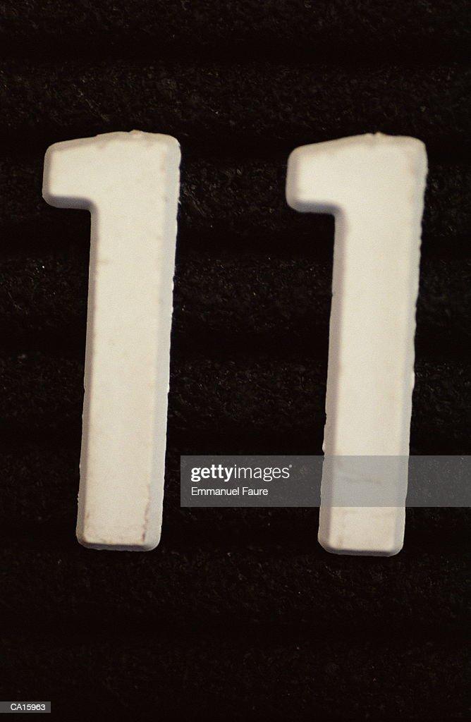Number '11', close-up