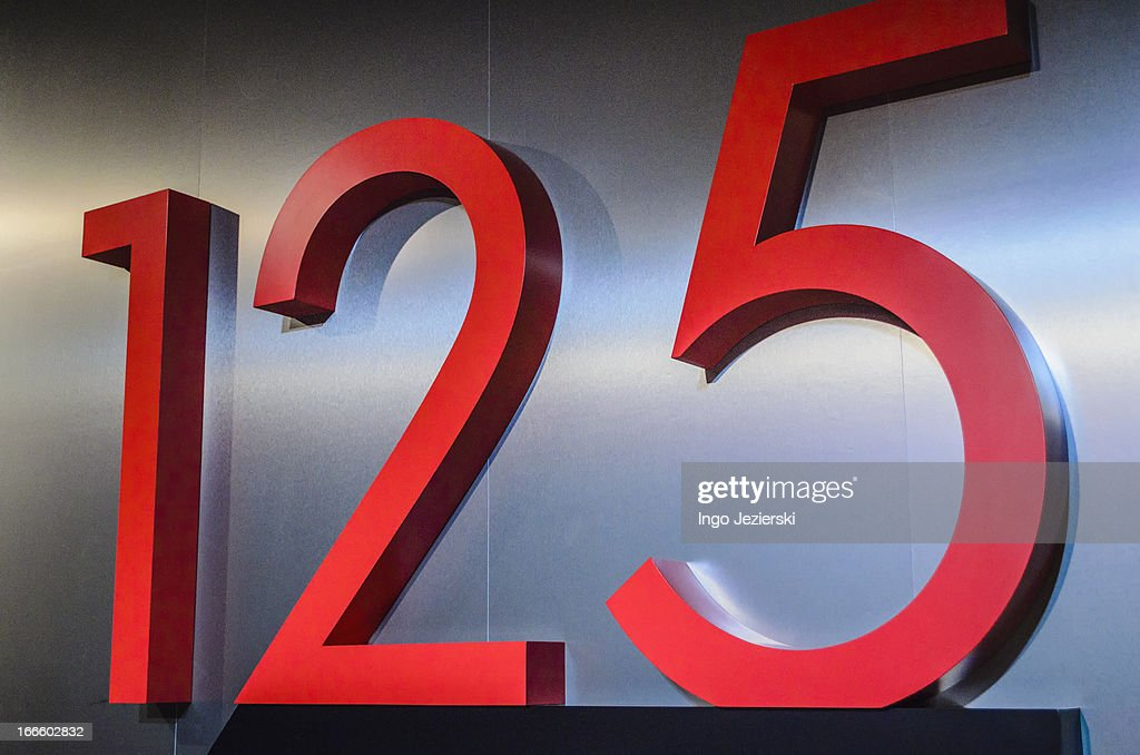Number 125 lettering : Stock Photo