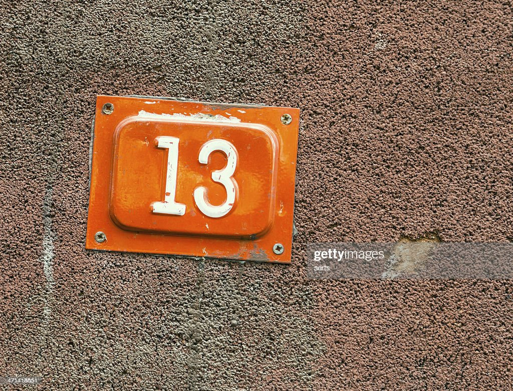 Number 13 : Stock Photo
