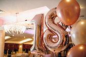 Number eighteen balloons