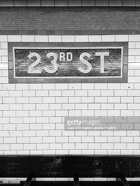 Number 23Rd On Tiled Wall
