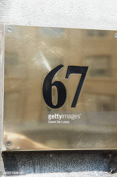 'Number 67' on wall