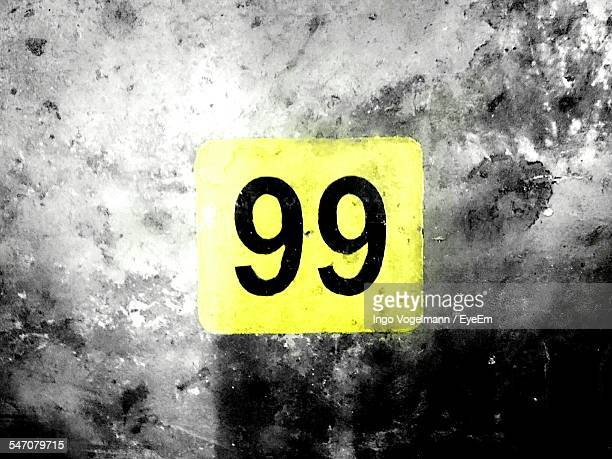 Number 99 On Wall