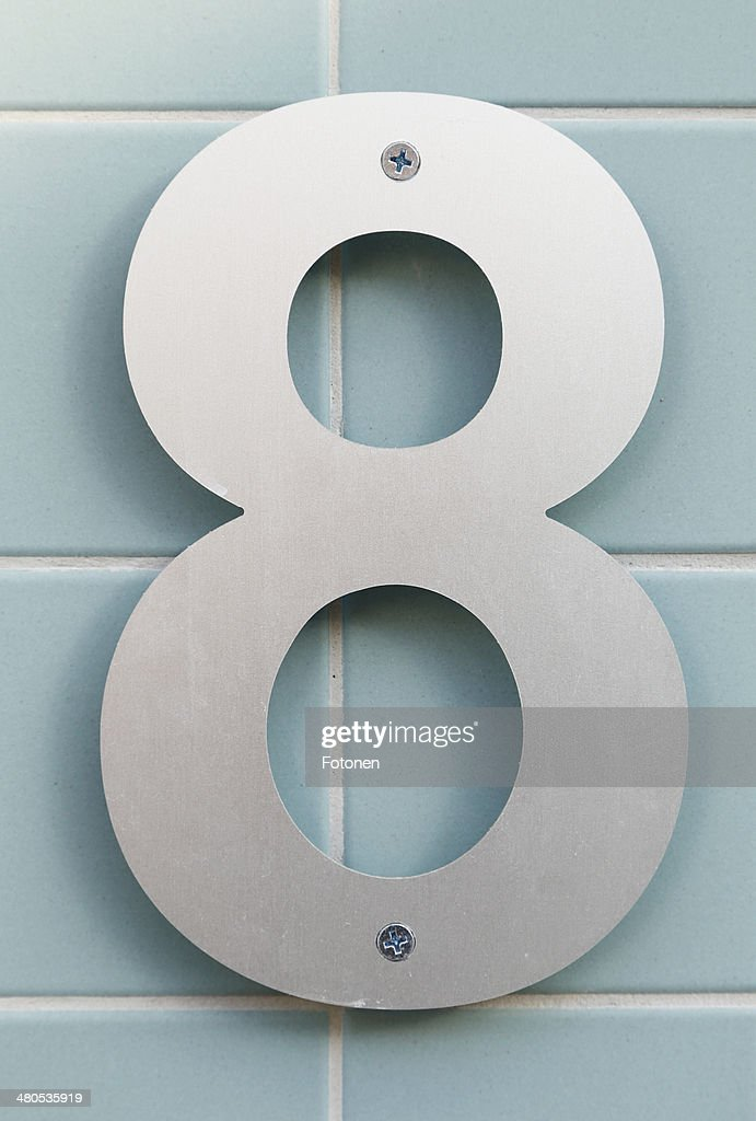 Number eight : Stock Photo