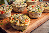 number of delicious egg vegetable muffins