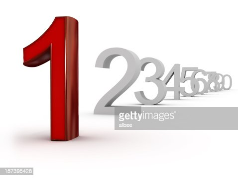 number one (first) : Stock Photo