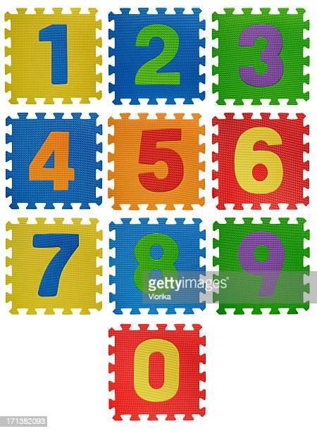 Nummer puzzles auf Weiß