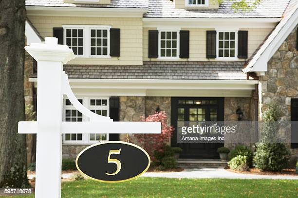 Number Sign Near House