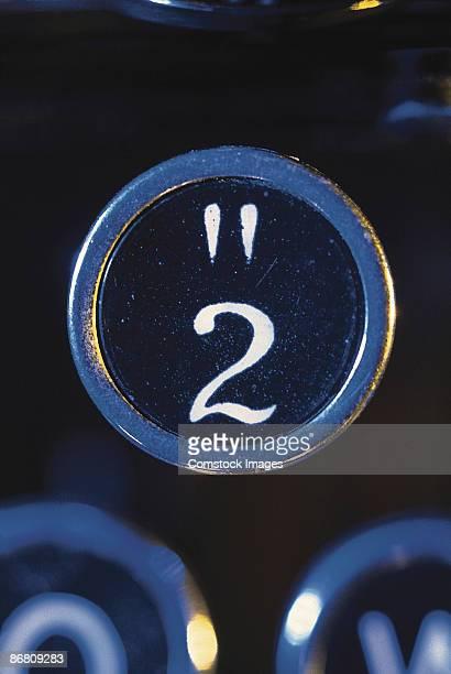 Number two on typewriter