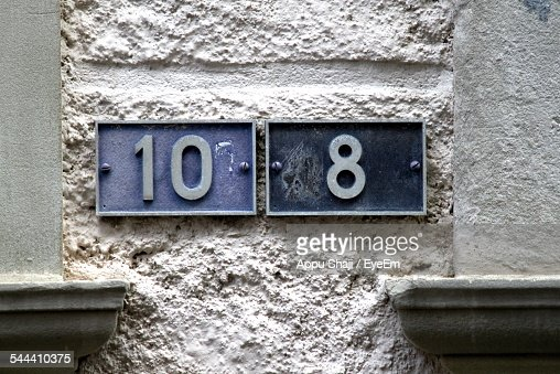 Numbers 10 And 8 On Wall