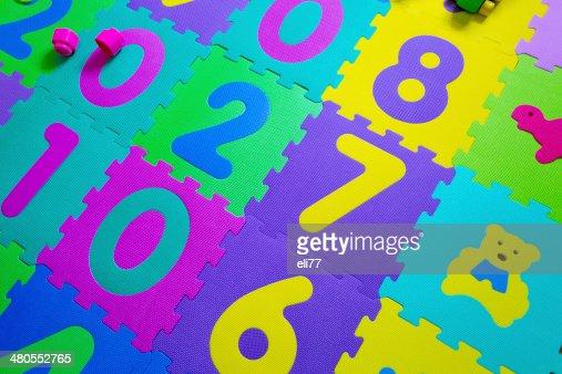 Número de Peças do'puzzle' : Foto de stock