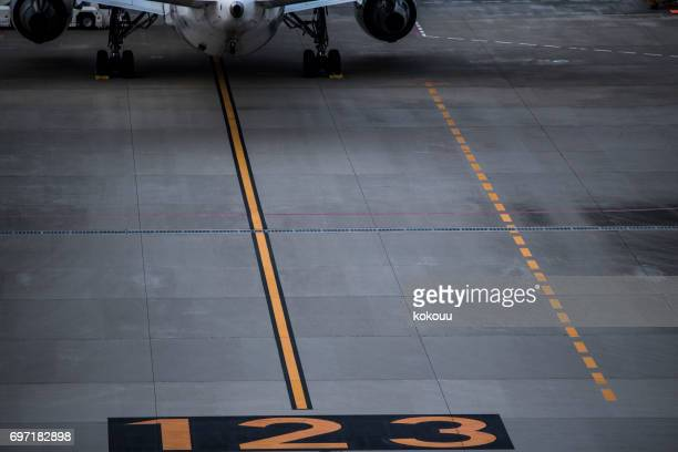 Numbers written in the airport.