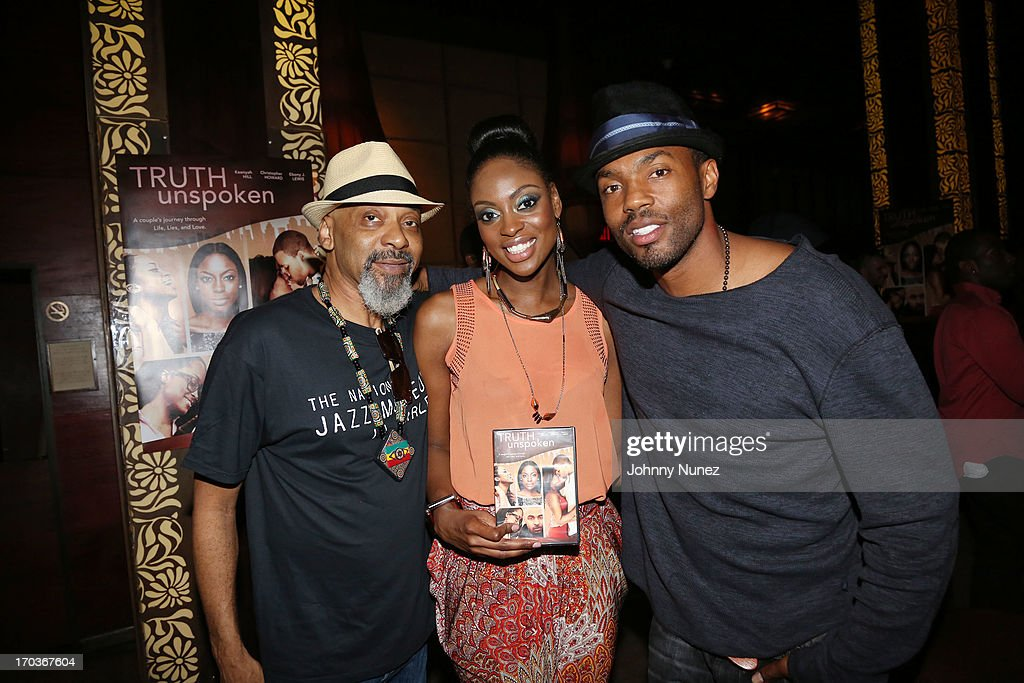 Nume, Ebony J Lewis and Tobias Truvillion attend The Unspoken Truth National Release Party at Taj Lounge on June 11, 2013 in New York City.