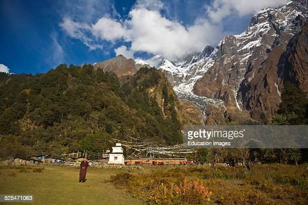 A Nun Greets Us An We Enter A Remote Tibetan Buddhist Monastery Nepal Himalala