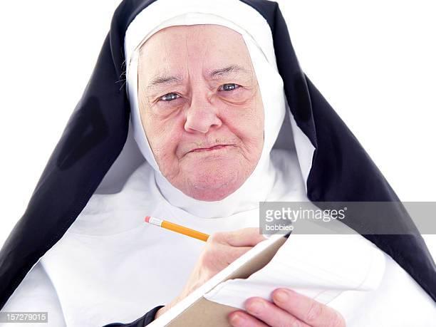 Nonne Serie-quengelnde Protokollführer