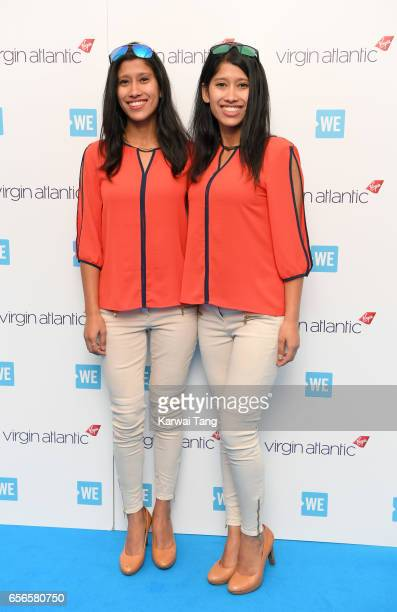 Nungshi Malik and Tashi Malik attend WE Day UK at The SSE Arena on March 22 2017 in London United Kingdom
