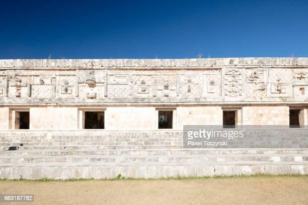 Nunnery Quadrangle at Uxmal Mayan site, Mexico