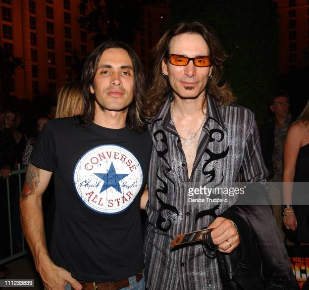 Nuno Bettencourt and Steve Vai during Queen Inducted into Hollywood RockWalk of Fame at Paris Las Vegas in Las Vegas Nevada