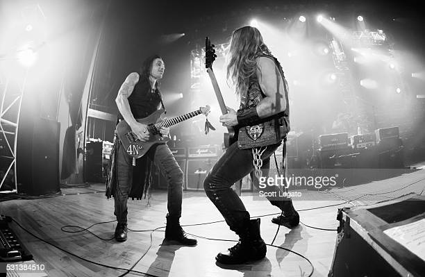 Nuno Bettencourt and Zakk Wylde performs during the Generation Axe Tour at The Royal Oak Music Theater on May 2 2016 in Royal Oak Michigan