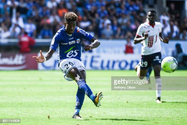 Nuno Da Costa Joia of Strasbourg during the Ligue 1 match between Racing Club Strasbourg and Lille OSC at Stade de la Meinau on August 13 2017 in...